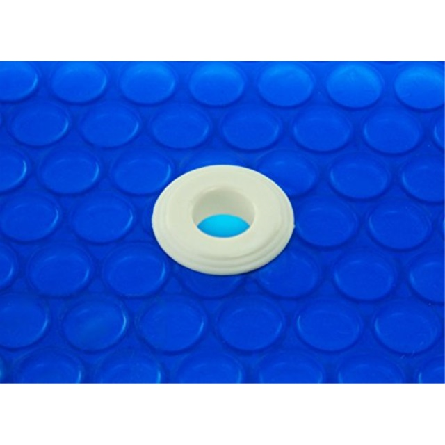 Swimming Pool 16 Mil Solar Cover With 6 Pack of Grommets Clear 14 X 28 Foot