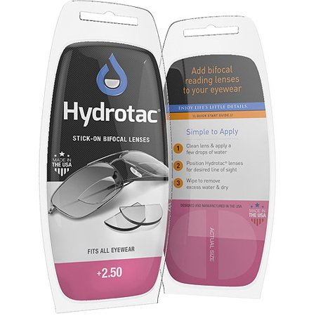 Hydrotac Stick On Bifocal Lenses  2 50