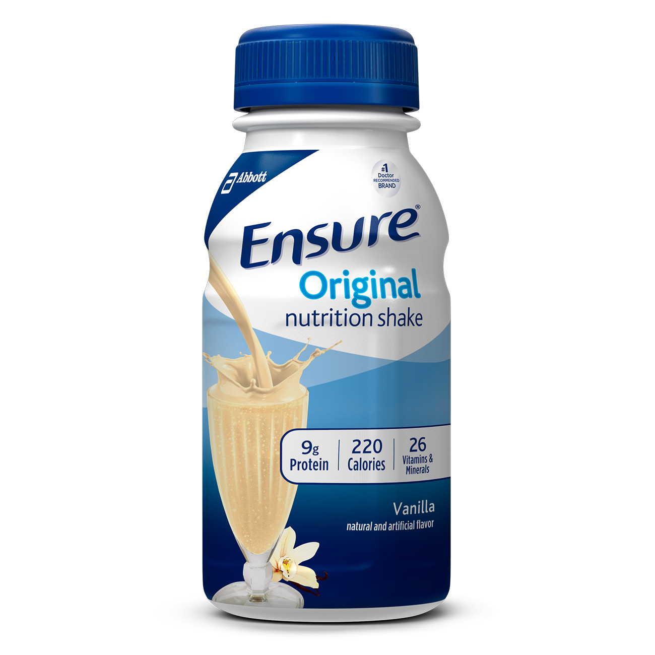 Ensure Original Nutrition Shake Vanilla with 9 grams of protein, Meal Replacement Shakes, 8 Fl oz Bottles, 16 Ct