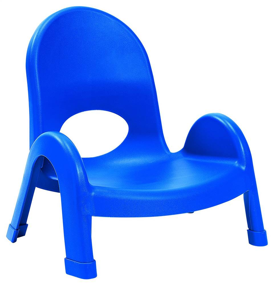 5 in. Stacking Chair in Blue - Set of 4