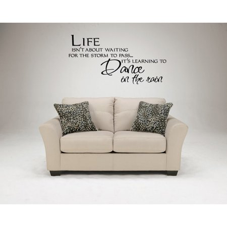 Stickalz Llc Learning To Dance In The Rain Quote Wall Art Sticker