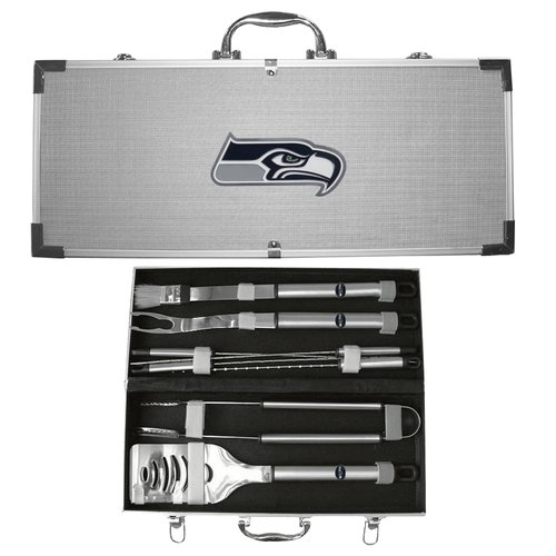 NFL 8-Piece BBQ Set with Hard Case, Seattle Seahawks