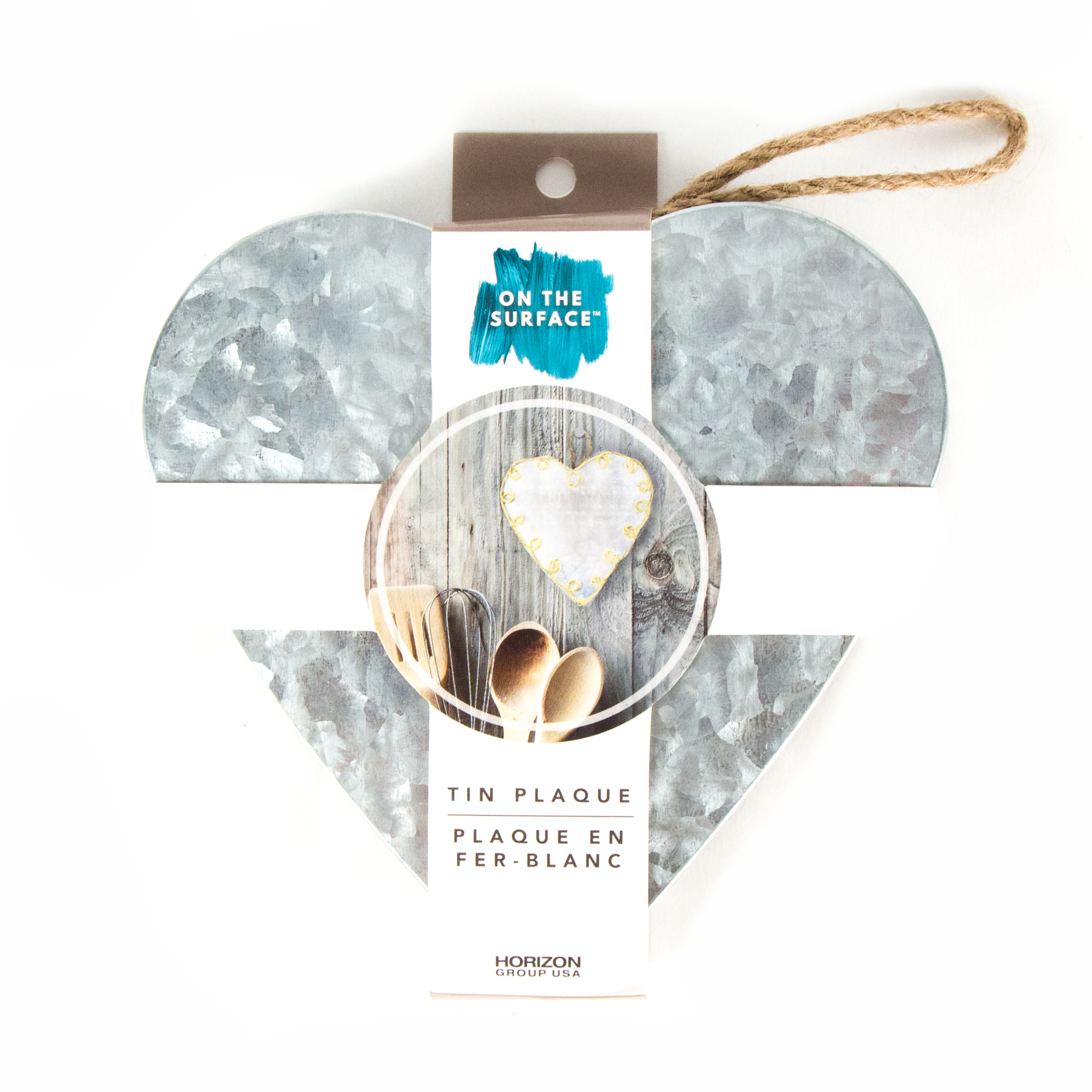 On the Surface Tin Heart Plaque by Horizon Group USA