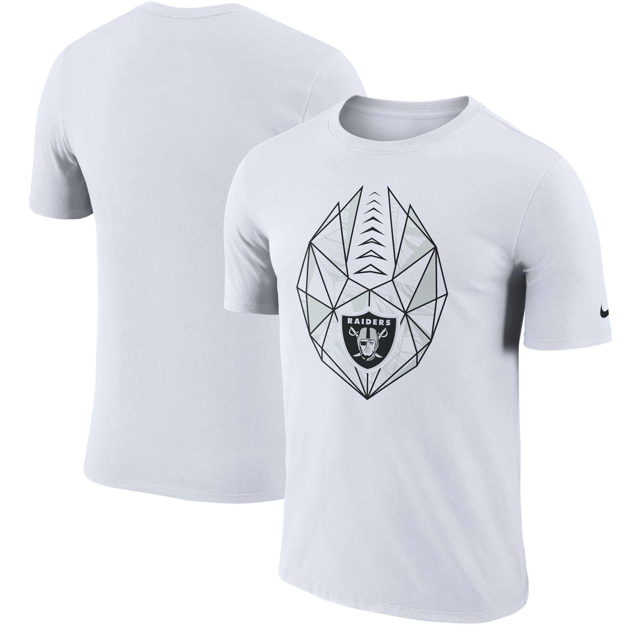 Oakland Raiders Nike Fan Gear Icon Performance T-Shirt - White