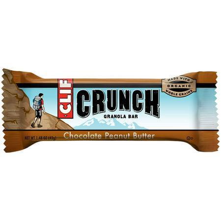 Clif Bar Crunch Granola Bar, Chocolate Peanut Butter, 1.48 Oz, 5 Ct