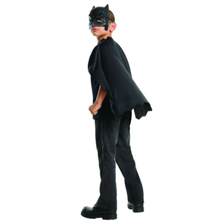 Dawn Of Justice Batman Cape with Mask Child Halloween Accessory