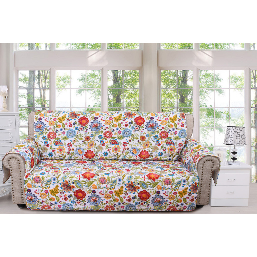 Astoria Floral Sofa Furniture Protector By Greenland Home