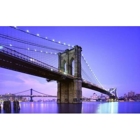Led Lighted Famous New York City Brooklyn Bridge Canvas Wall Art 15 75  X 23 5