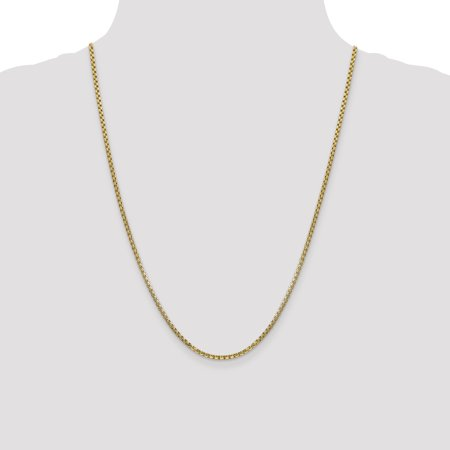 14k 2.45mm Semi-solid Round Box Chain Necklace Pendant Charm Fine Jewelry For Women Gifts For Her - image 7 of 9