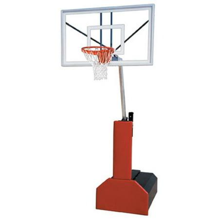 Thunder Select Steel-Acrylic Portable Basketball System, Purple (Basketball Goal Lights Up)