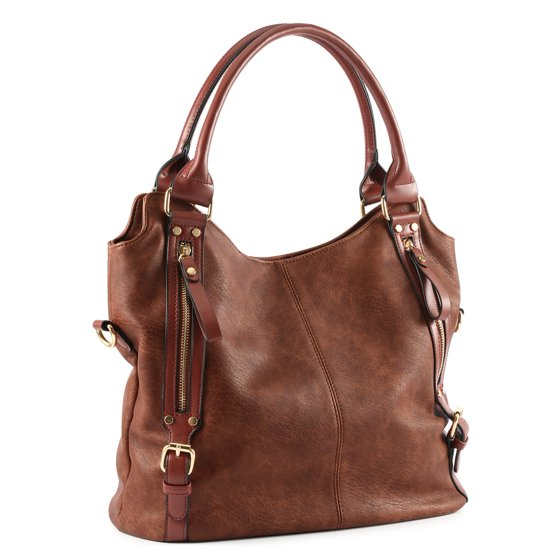 f553abbbd18b Plambag Women Faux Leather Hobo Handbag Large Tote Purse