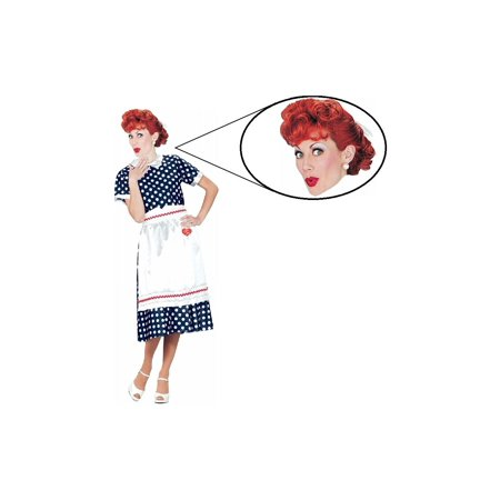 I Love Lucy Tv Show Woman Costume and Wig Set