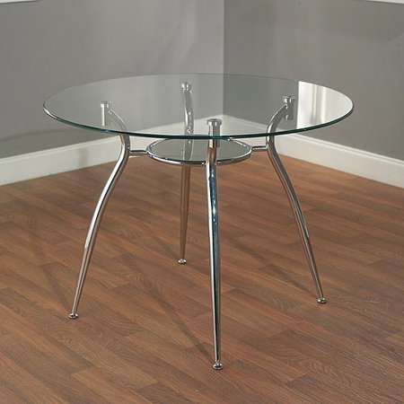 mabel metal dining table with glass top