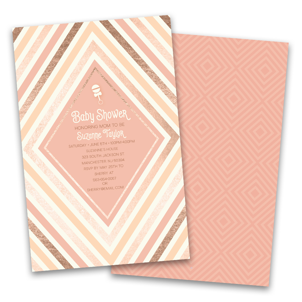 Personalized Diamonds Personalized Baby Shower Invitations