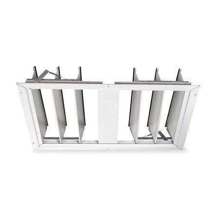 Dayton 3C511 30 In Whole House Fan Economy Ceiling Truss Shutter / Ceiling Shutter, White Painted Aluminum