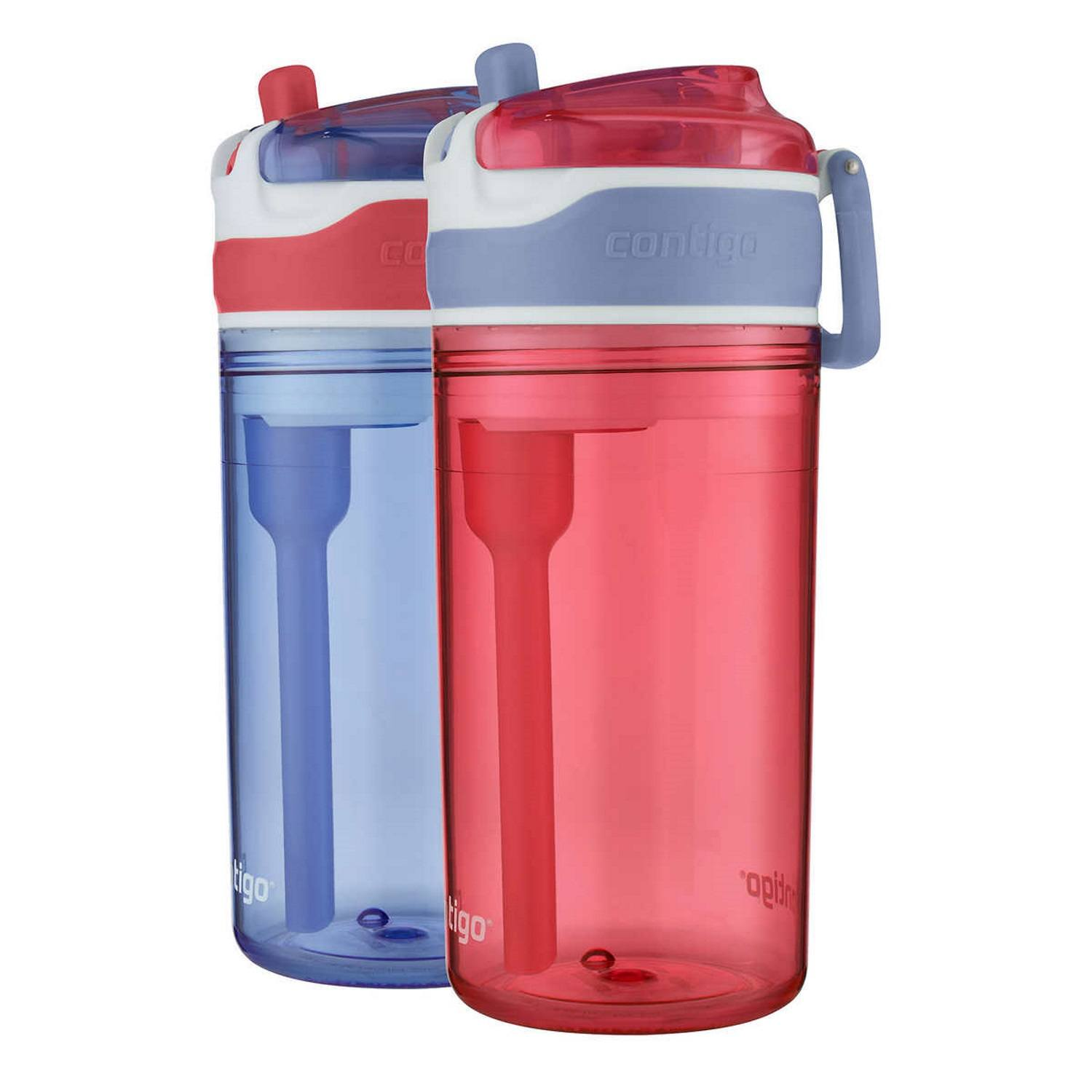 Contigo Kids 2-in-1 Snack Hero Tumbler Featuring 4oz Snack Holder Stacked on Top of 13oz Water Bottle