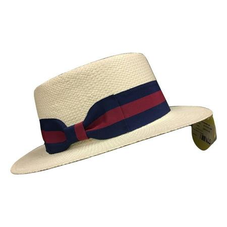 Boater Hat Skimmer Sailor Election White Campaign Barbershop Quartet Straw Hat ()