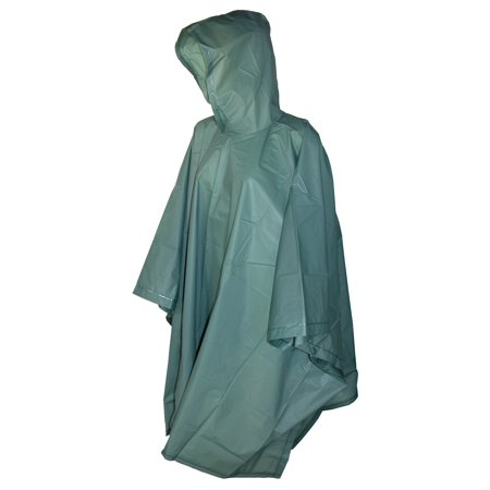 Size one sizeone size Hooded Pullover Rain Poncho with Side (Patagonia Mens Cotton Quilt Snap T Pullover)