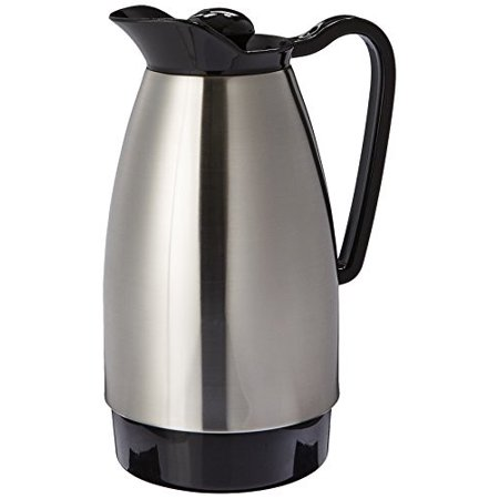 Service Ideas CGC101SS Classic Carafe 1 L Stainless Steel with Black Carafe Stainless Steel Liner