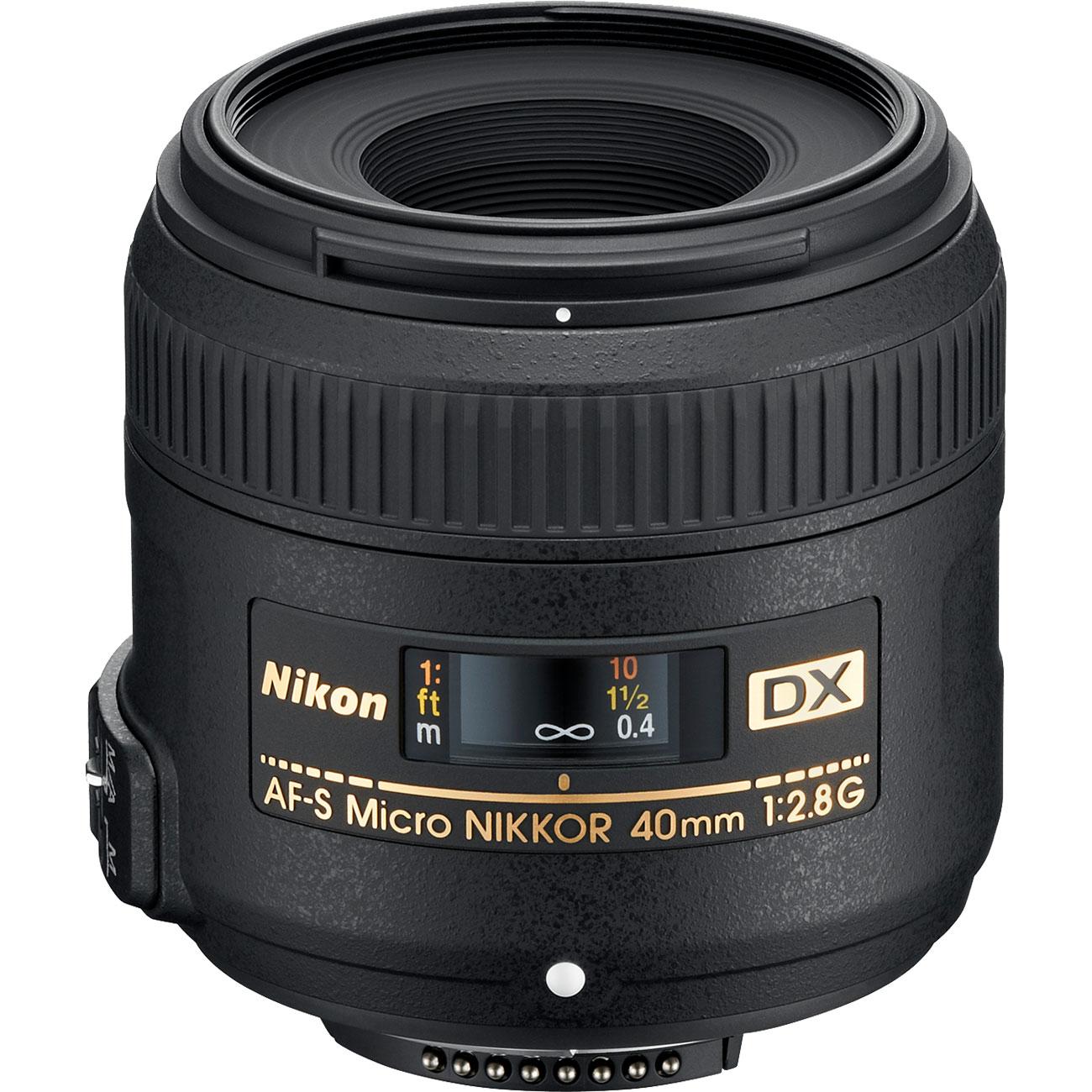 Nikon 40mm f/2.8 G DX AF-S Micro-Nikkor Lens - Factory Refurbished includes Full 1 Year Warranty