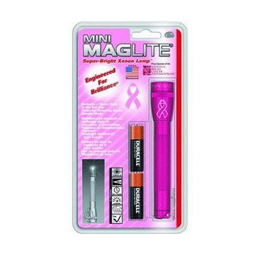 Mini MagLite 2-Cell AA National Breast Cancer Foundation Flashlight, Pink