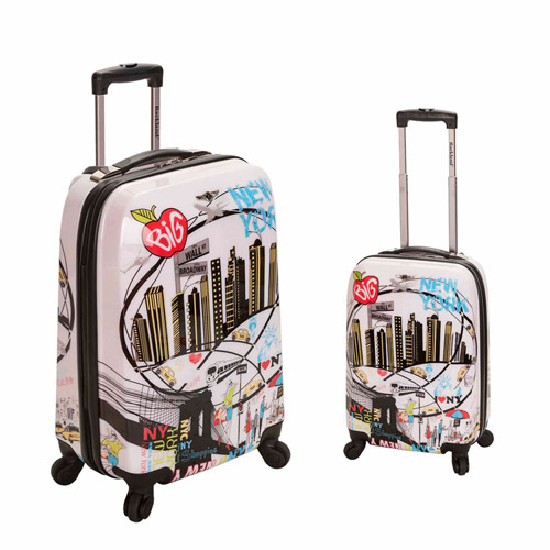 Rockland Luggage 2-Piece Traveler Polycarbonate Luggage Set, New York