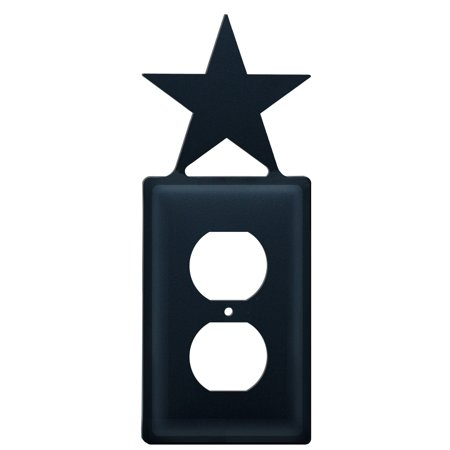Village Wrought Iron Eo 45 Star Single Outlet Cover