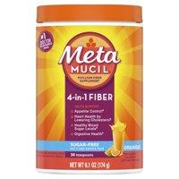 Metamucil Psyllium Sugar-Free Fiber Supplement Powder, Orange, 30 Tsp