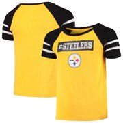 Girls Youth Gold Pittsburgh Steelers Burn Out T-Shirt