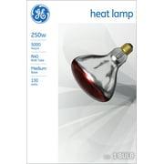 GE Incandescent 250W, Br40 Red Heat Lamp, 4 Year Life, E26 Medium Base, 1pk Light Bulb