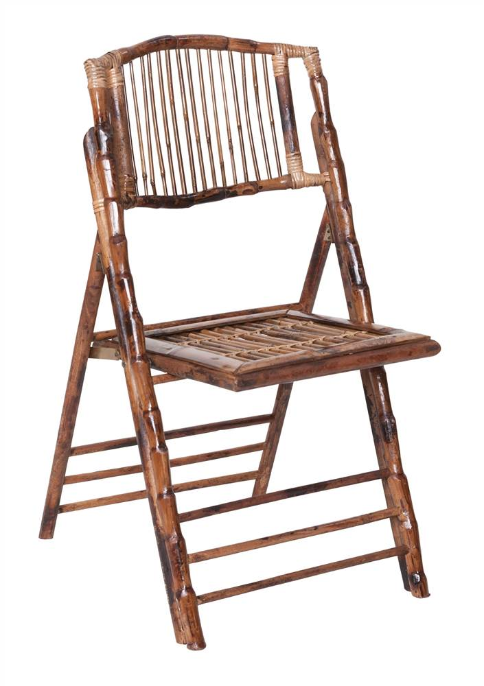 Bamboo Folding Chair   Set Of 4