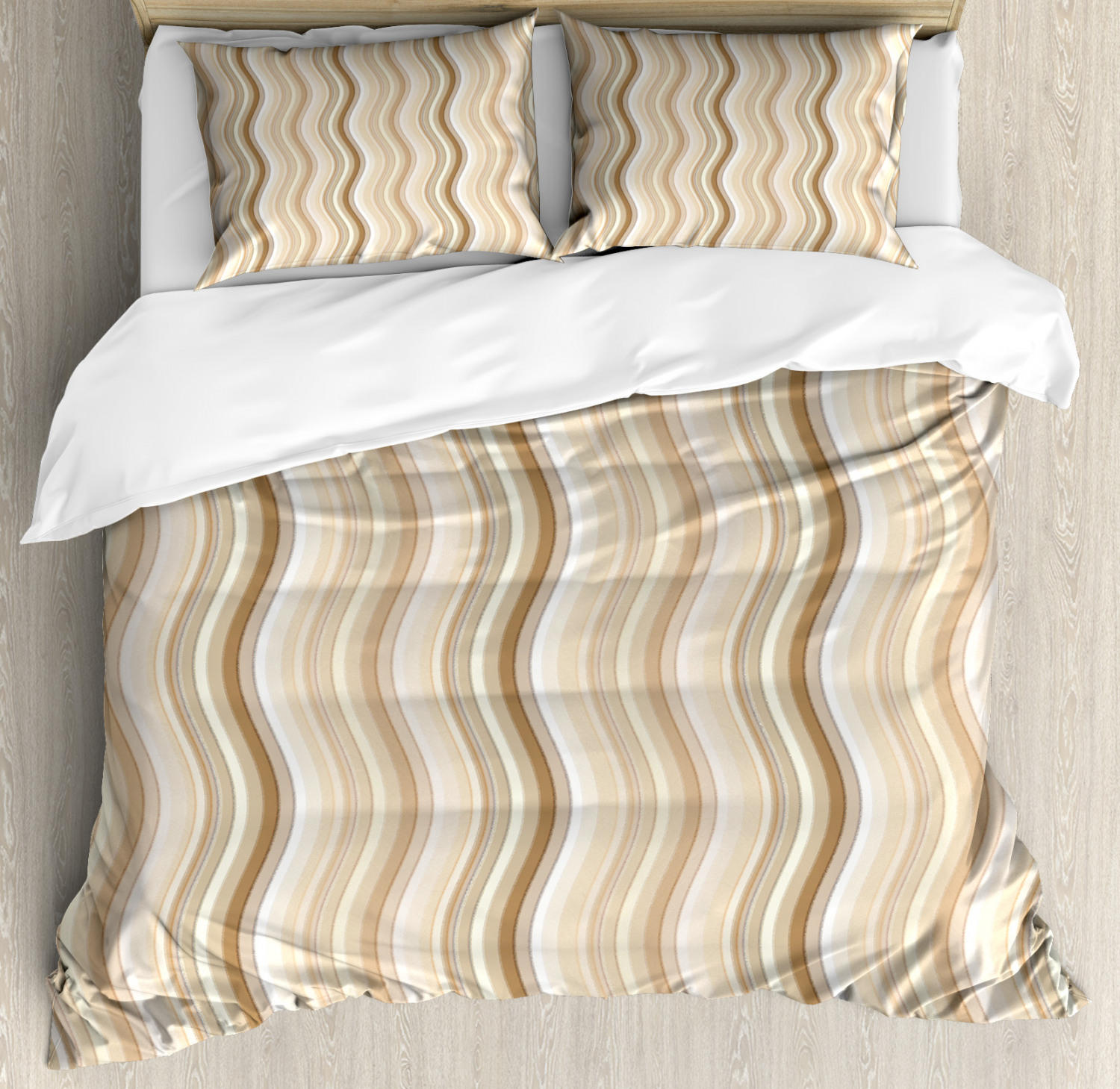 Tan Duvet Cover Set Wavy Curvy Lines Flowing In Vertical Direction Swirl Energy Motion Inspired Decorative Bedding Set With Pillow Shams Pale Brown Tan White By Ambesonne Walmart Com Walmart Com