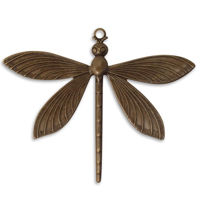Vintaj Natural Brass Dragonfly Pendant 51.5mm (1)