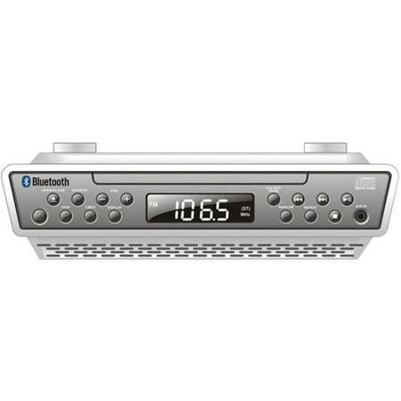 Sylvania SKCR2713 Under-Counter Bluetooth CD Clock Radio (Under The Counter Radios)