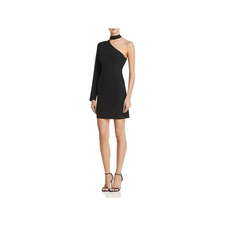 Bardot Womens Willow One Shoulder Knee-Length Cocktail Dress - Willow Dress