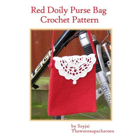- Red Doily Purse Bag Crochet Pattern - eBook