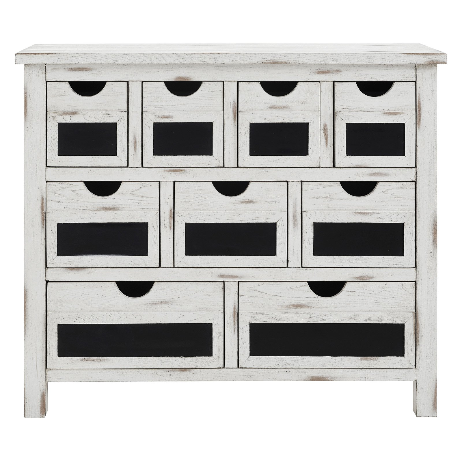 White Chalkboard Fronts Drawer Chest