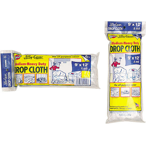 Warps U-912-48 9' x 12' Jiffy Cover Drop Cloth