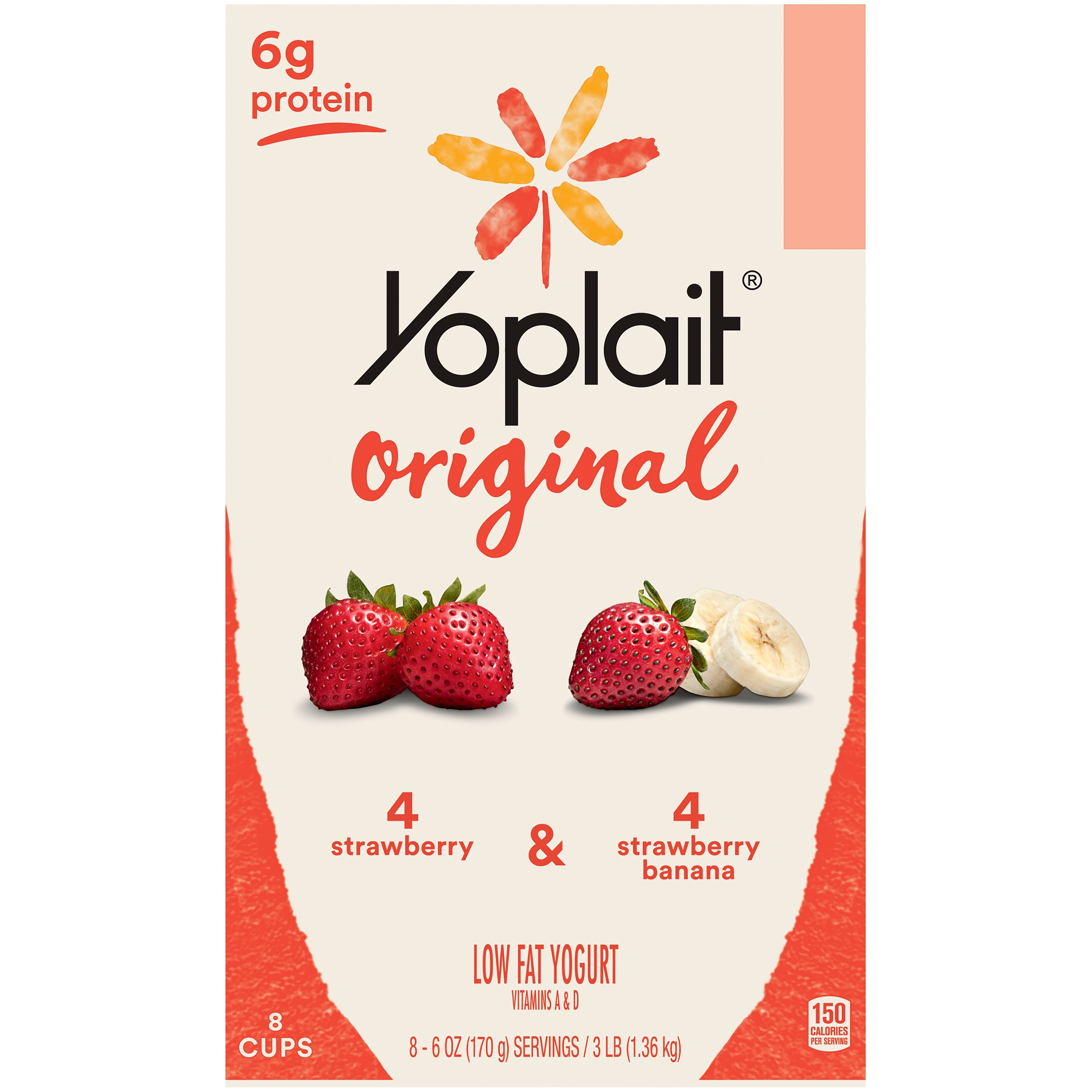 Yoplait® Original Strawberry/Strawberry Banana