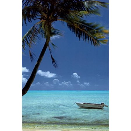 All Tied Up By Doug Cavanaugh 36X24 Art Print Poster Tropical Travel Poster Ocean Beach Boat