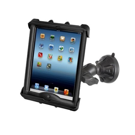RAM Short Arm Suction Cup Windshield Car Mount Holder for Apple iPad 1 2 3 & 4 in LifeProof or Lifedge Cases