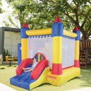 TOBBI Large Inflatable Bounce House Kids Slide Jumping Castle Moonwalk Bouncer Without Blower