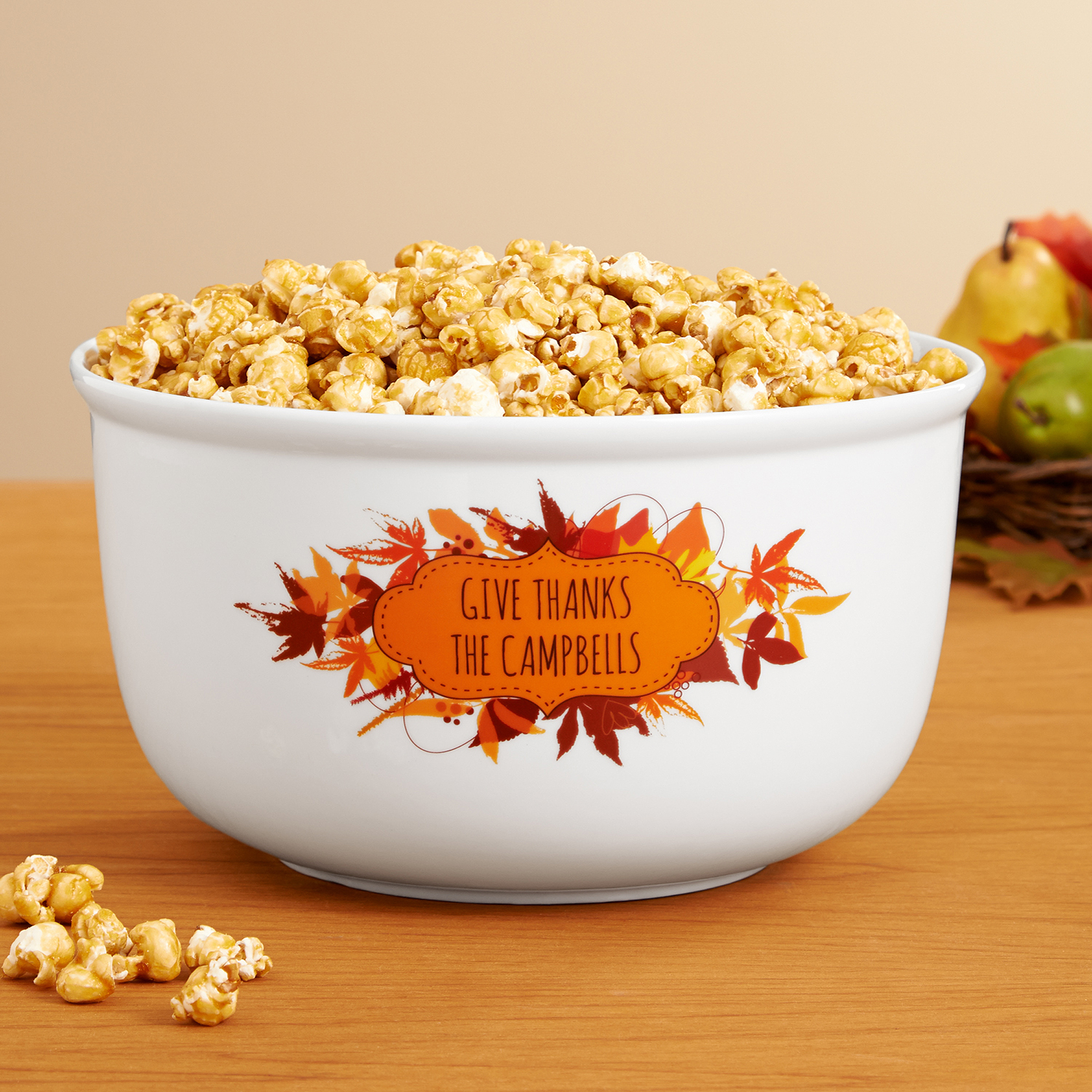 Personalized Give Thanks Treat Bowl