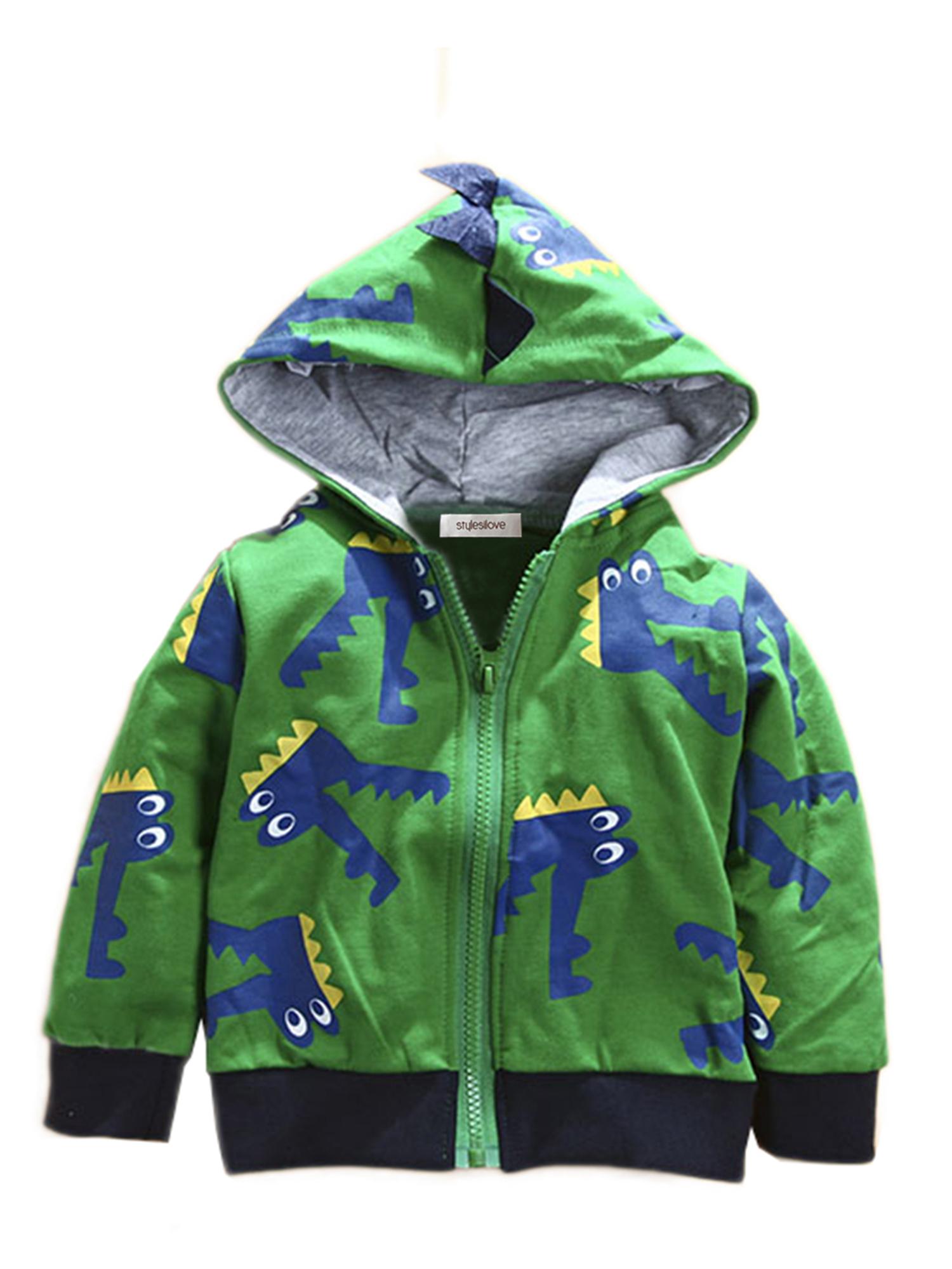 Stylesilove Boy Cute Animal 3D Hoodie Jacket (3-4 Years, Crocodile)