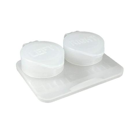 Visualeyewear 12-Pack, Deep Well Flip-top Clear Contact Lens Cases (Visual Eyewear)