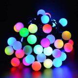 Qedertek 50 RGB Ball LED Changing String Christmas Decorative Fairy Lights