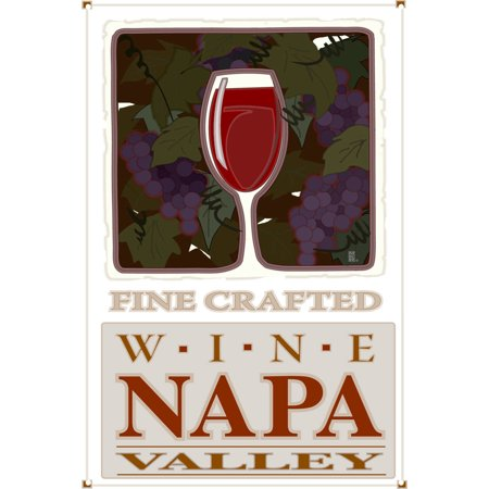 Fine Crafted Wine Napa Valley Fine Wine Glass Metal Art Print by Mike Rangner (12