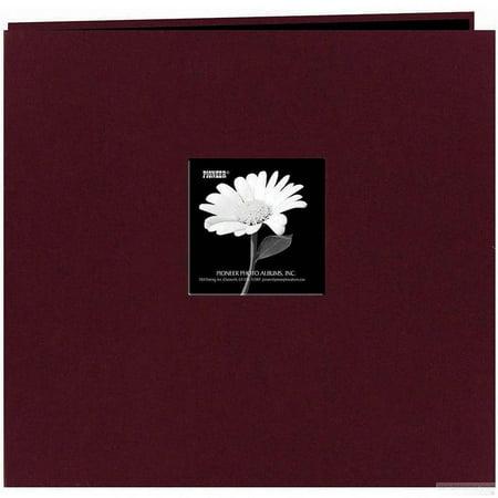 Pioneer 200 Pocket Photo Album   Sweet Plum Natural Colors Fabric