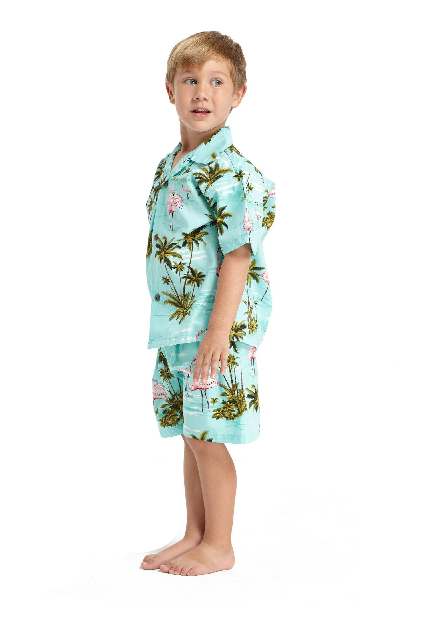 55ea5cd9 Hawaii Hangover - Made in Hawaii Boy Young Adult Luau Aloha Shirt Hawaiian  Shirt in Pink Flamingo All Over in Turquoise 16 - Walmart.com