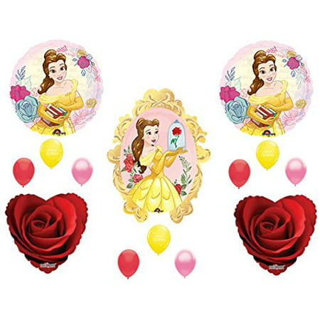 BEAUTY AND THE BEAST Red Rose Birthday Party Balloons Decoration Supplies Movie - Beauty And The Beast Birthday Party